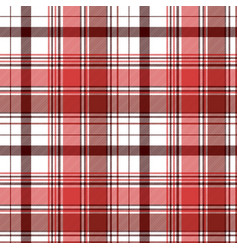 Red abstract check textile seamless pattern vector