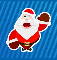 santa claus sticker vector image