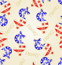 Seamless texture Money- The US dollars vector image