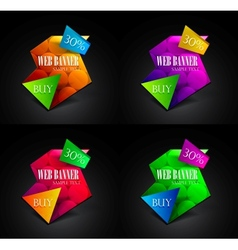 Set of colorful geometrical web boxes vector image