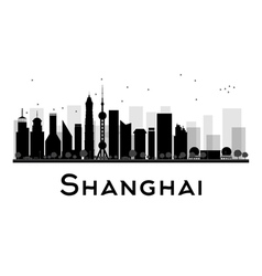 Shanghai silhouette vector