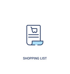 Shopping list concept 2 colored icon simple line vector
