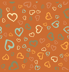 Simply hearts seamless tile valentines day vector