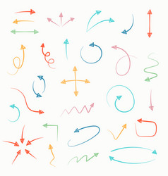 sketch arrow set for your business and education vector image