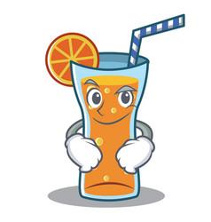 Smirking cocktail character cartoon style vector