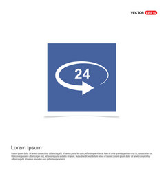 the 247 icon - blue photo frame vector image