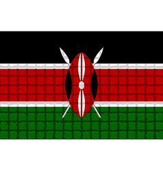 The mosaic flag of Kenya vector image