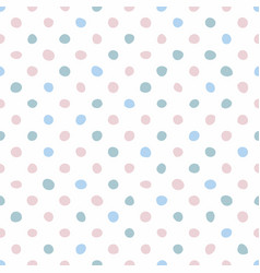 tile pattern with pastel pink and blue hand drawn vector image