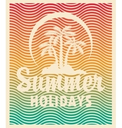 Tourism banner on a summer vacation vector image