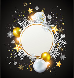 white and golden decorations vector image