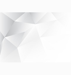 white polygon abstract background with copy space vector image