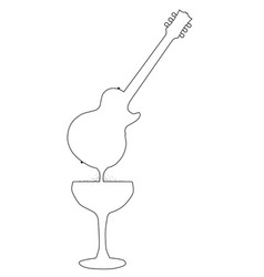 wine guitar vector image