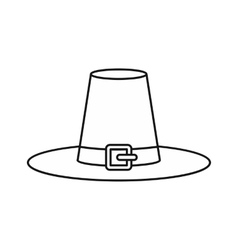 Witch hat icon outline style vector image