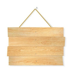 Wooden Board vector image