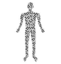 wrench man figure vector image