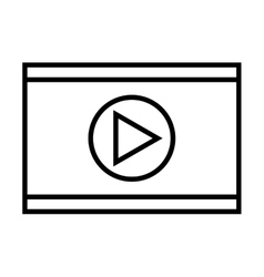 media player control panel icon vector image vector image