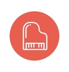 Piano thin line icon vector image