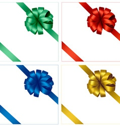 set of four colored bows vector image vector image