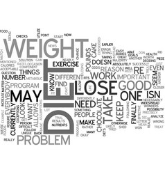 what to do if you cant lose weight change it up vector image