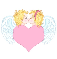 Angels in love vector