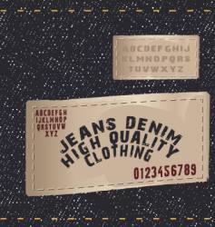 Denim texture jean vector