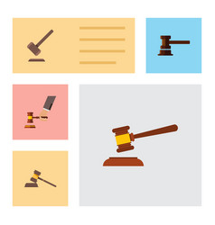 flat icon lawyer set of government building court vector image vector image