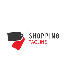 Shopping tagline red black tag background i vector