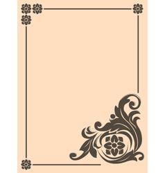vintage design frame vector image