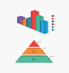 bar chart diagram infographic vector image