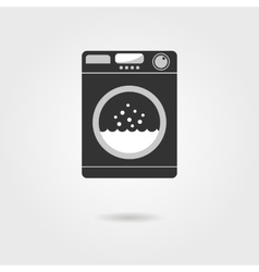 black washing machine with shadow vector image vector image