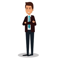 businessman character avatar icon vector image vector image