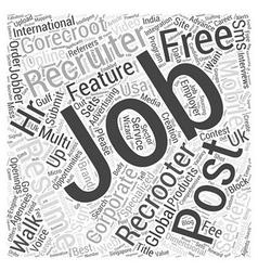 Gorecroot international jobs recruiters post free vector