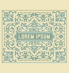 old card baroque style wirh floral details vector image vector image