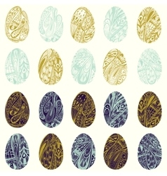 set of colorful Easter eggs EPS 8 vector image