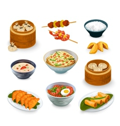 Asian food set vector