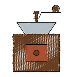 Coffee grinder machine icon vector
