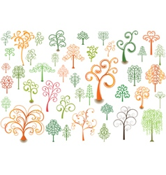 Cutly Trees vector image vector image