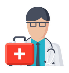 doctor on call vector image vector image