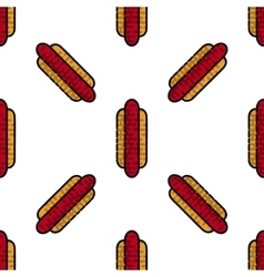 Hot Dog flat pattern vector image vector image