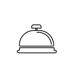 reception bell icon vector image