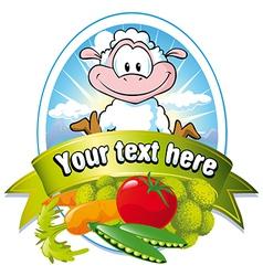 vegetable label vector image