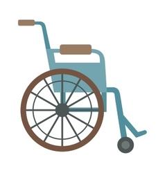 wheelchair flat design medical icon vector image