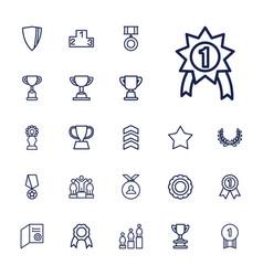 22 award icons vector