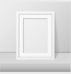 3d realistic modern interior white blank vector image