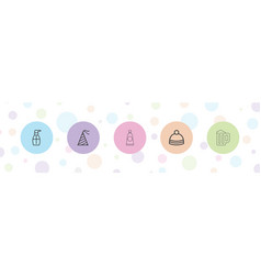 5 cap icons vector