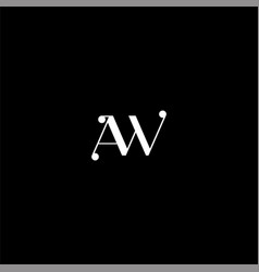 A w letter logo creative design on black color vector