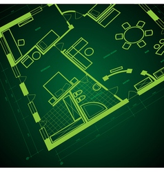 Abstract blueprint background vector image