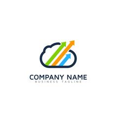 arrow cloud logo icon design vector image