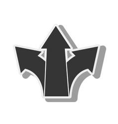 arrow grow progress economy icon graphic vector image