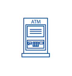 atm machinepayment line icon concept atm machine vector image